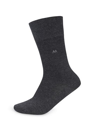 Hemington Pamuklu Antrasit Çorap Antrasit